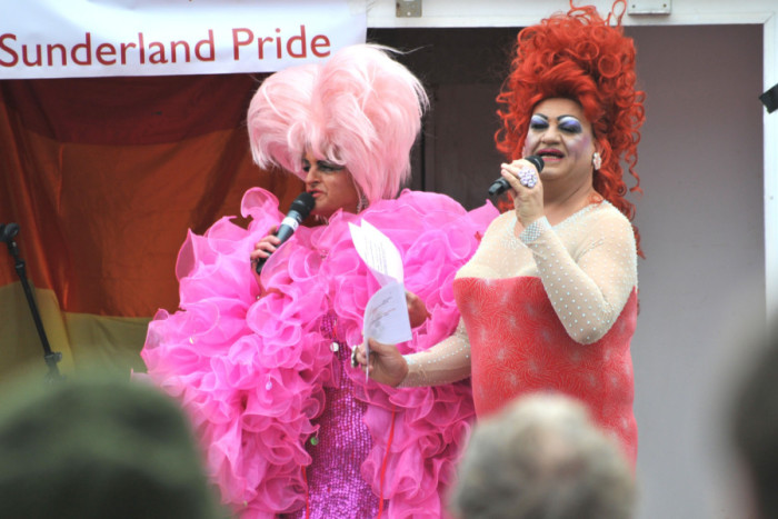 Miss Trixie hosting Sunderland Pride in 2013