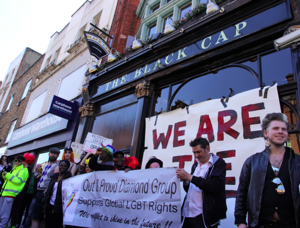 protests following the bar's closure