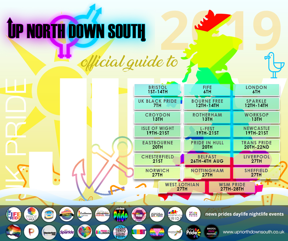 UpNorthDownSouth UK Pride Guide - July